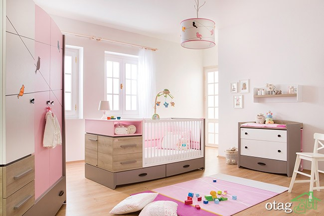 Interesting Interior Decor Of Ba Girl Nursery Room Decorated intended for Baby Nursery Furniture - Design Decor