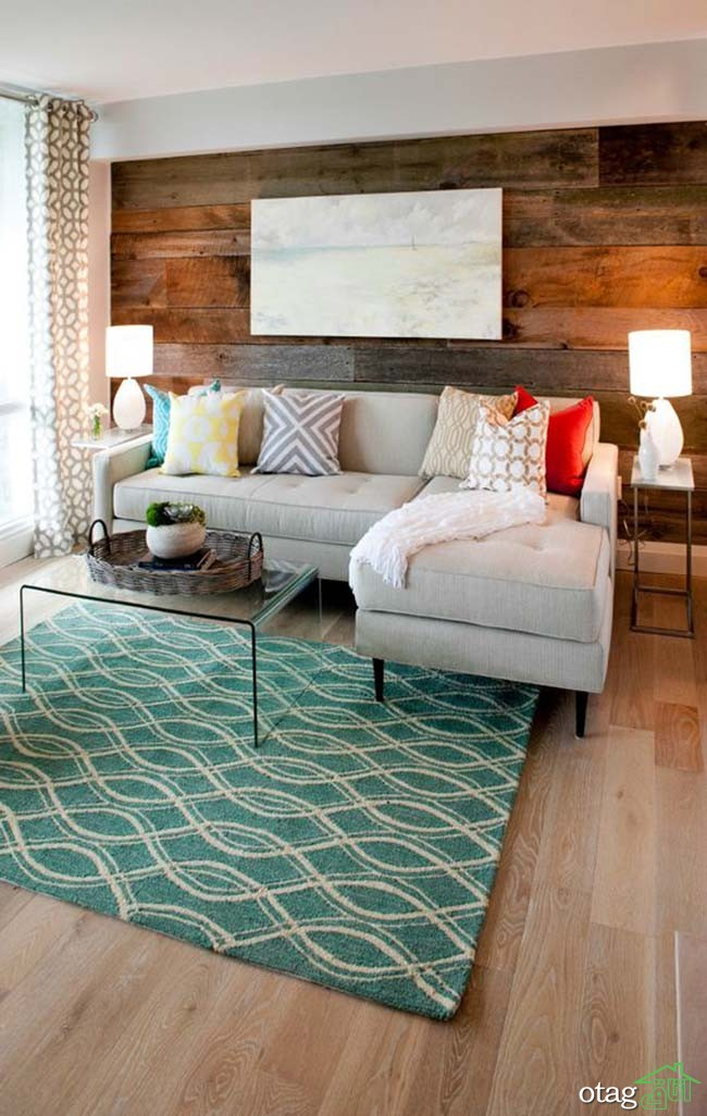 Catherine's living room is a sophisticated, grown up space. Catherine felt very strongly about the barn wood feature wall and cut light fixtures our of her budget to make it happen. As seen on Property Brothers.