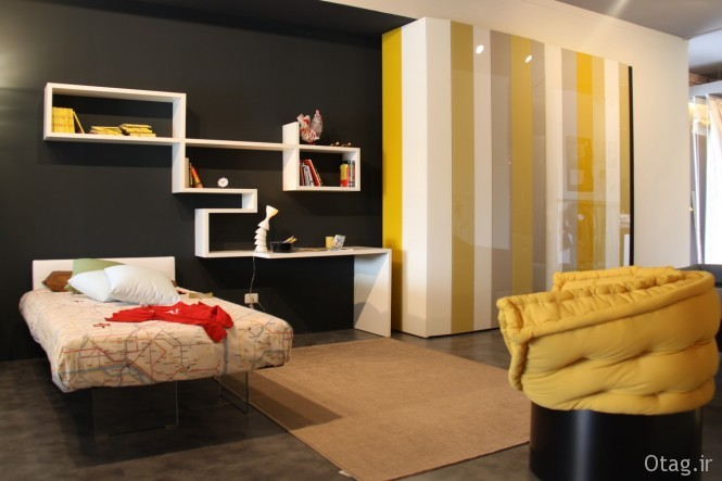24-Yellow-Grey-Black-Bedroom-665x443