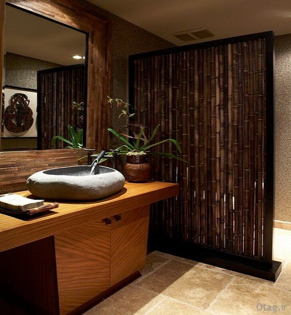 Bathroom-Ideas-with-Bamboo-Room-Divider