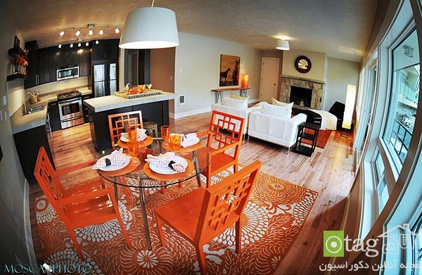 Beautiful-orange-in-dining-room-decoration (14)