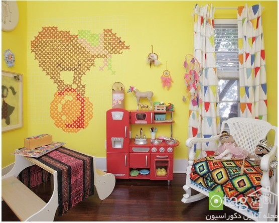 Cartoon-Themed-Curtain-Children-Room-Design-Idea (2)