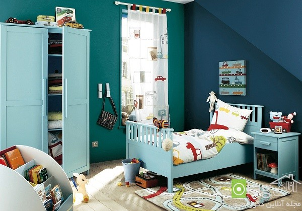 Cartoon-Themed-Curtain-Children-Room-Design-Idea