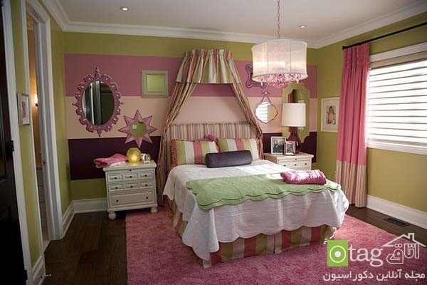 Contemporary-bedroom-designs-with-striped-accent-wall (6)