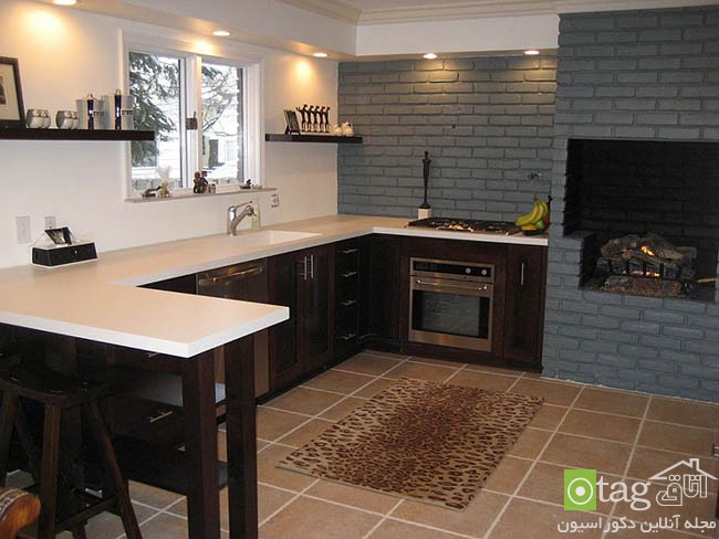 Contemporary-kitchen-with-brick-walls (13)