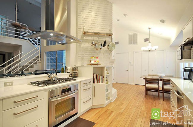Contemporary-kitchen-with-brick-walls (14)