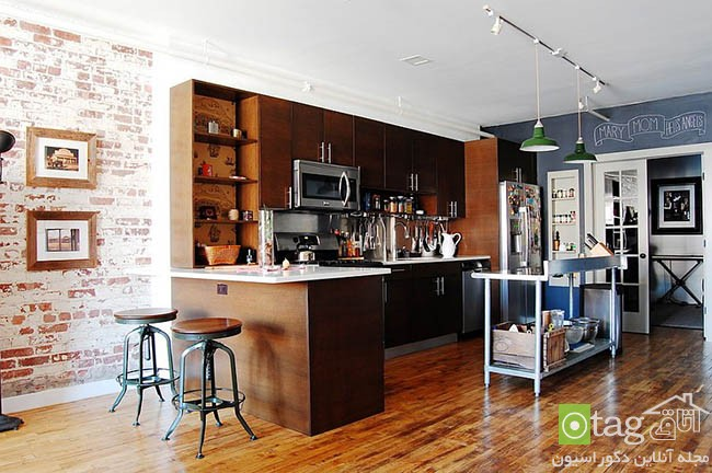 Contemporary-kitchen-with-brick-walls (15)