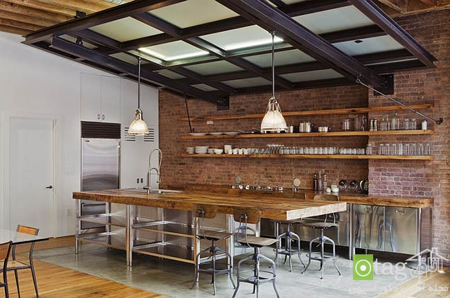 Contemporary-kitchen-with-brick-walls (2)