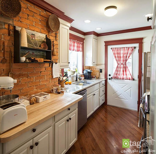 Contemporary-kitchen-with-brick-walls (3)