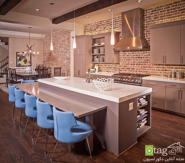 Contemporary-kitchen-with-brick-walls (4)