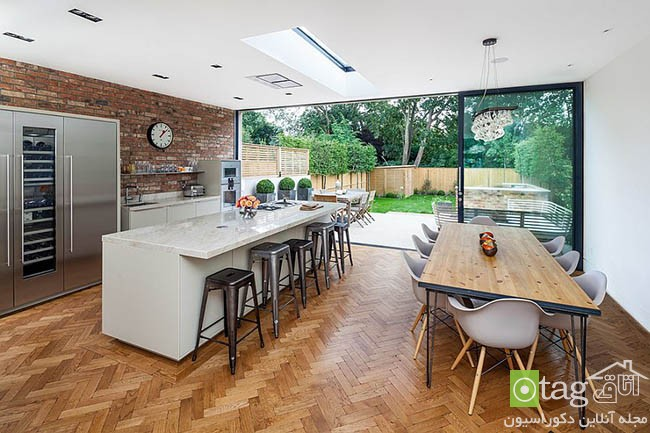 Contemporary-kitchen-with-brick-walls (5)