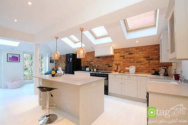 Contemporary-kitchen-with-brick-walls (7)