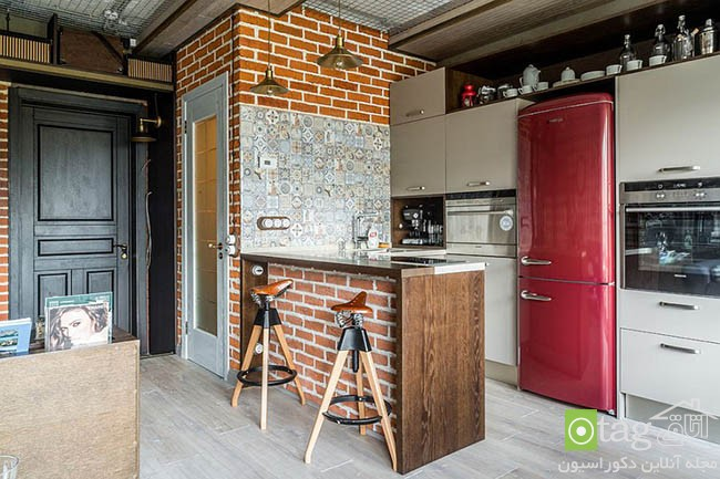 Contemporary-kitchen-with-brick-walls (8)