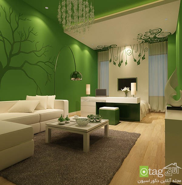 Contemporary-living-room-with-shades-of-green (2)