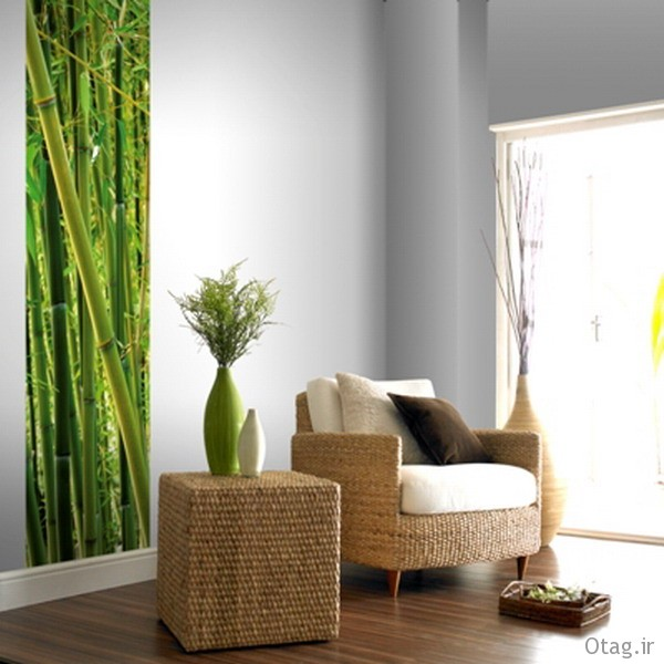 Green-Murals-Bamboo-in-Living-Room-Ideas