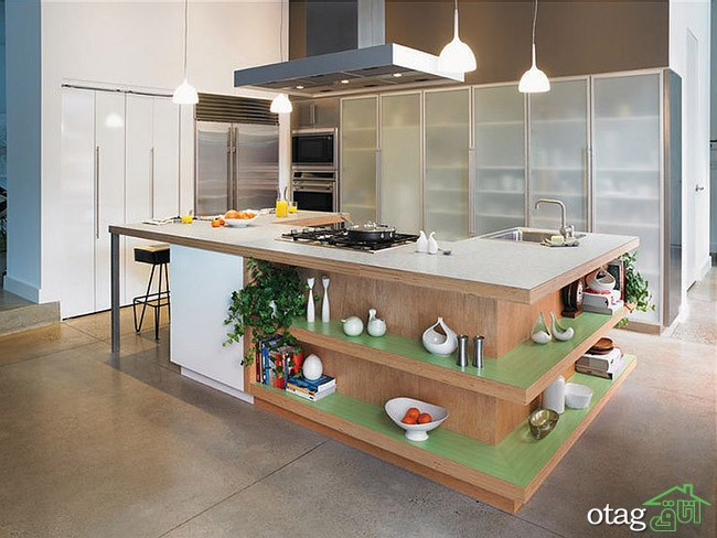 Kitchen Islands with Open Shelving (1)