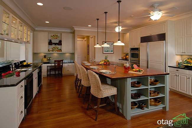 Kitchen Islands with Open Shelving (12)