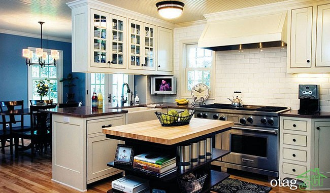 Kitchen Islands with Open Shelving (13)