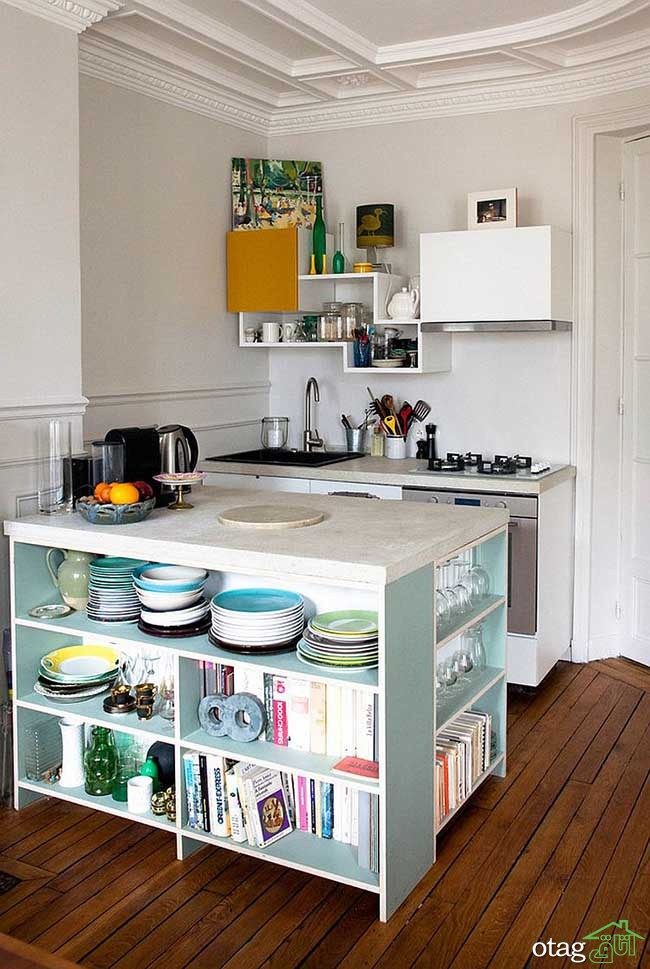 Kitchen Islands with Open Shelving (15)