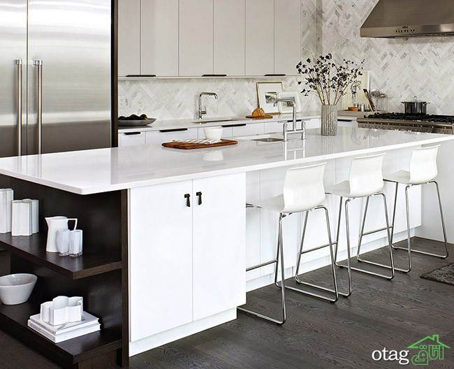 Kitchen Islands with Open Shelving (20)