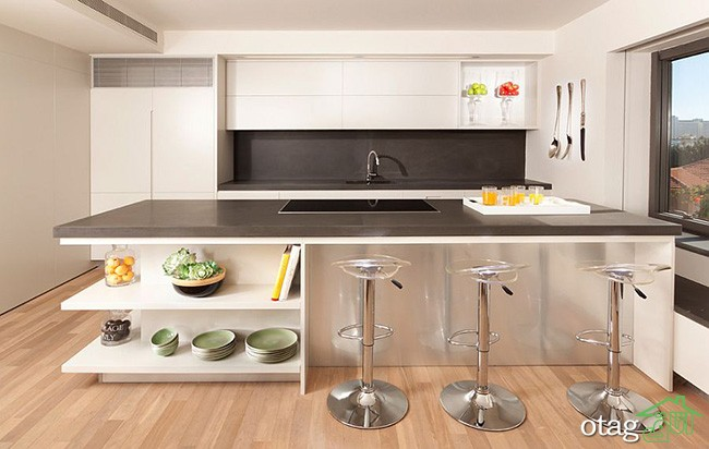 Kitchen Islands with Open Shelving (24)