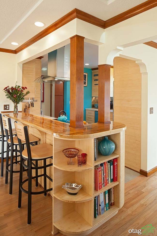 Kitchen Islands with Open Shelving (25)