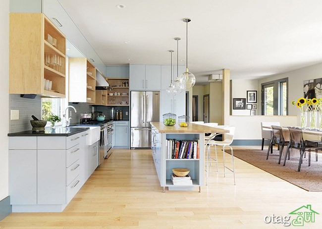 Kitchen Islands with Open Shelving (26)