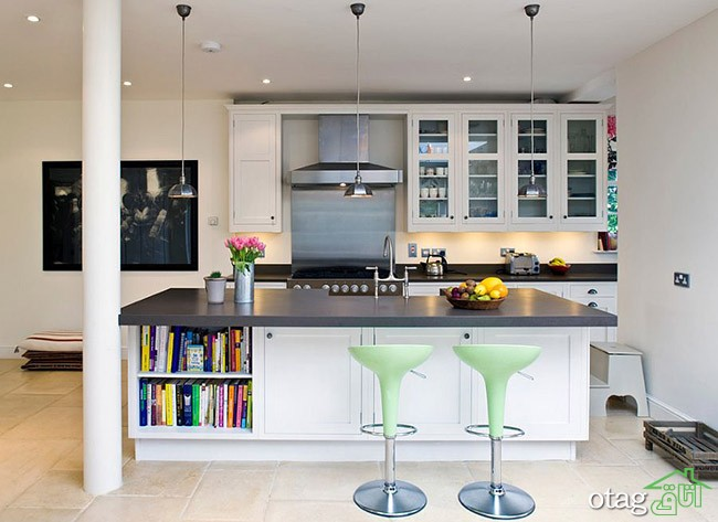 Kitchen Islands with Open Shelving (3)