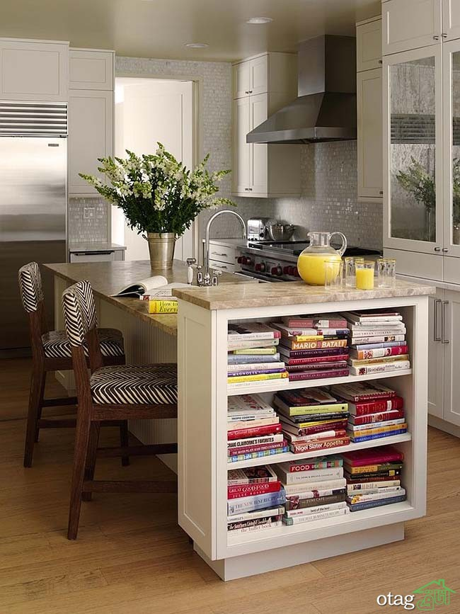 Kitchen Islands with Open Shelving (4)