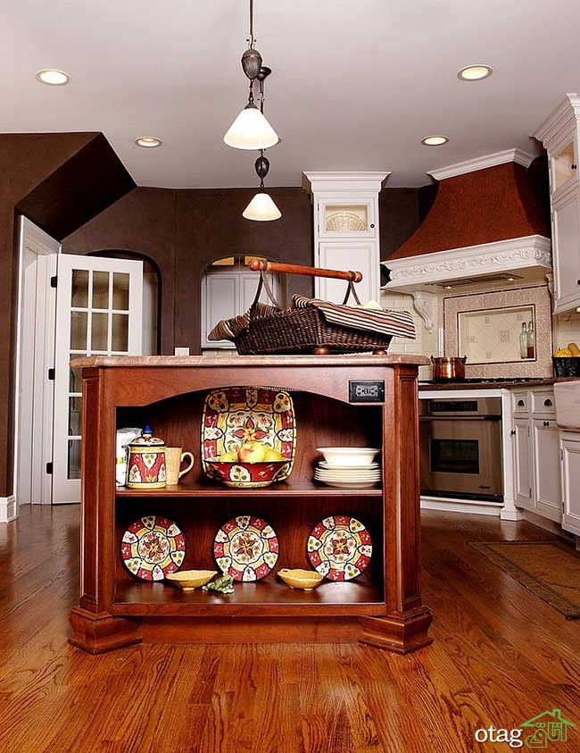 Kitchen Islands with Open Shelving (8)