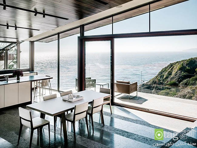 Kitchen that opens with ocean view 11 معرفی 18 دکوراسیون آشپزخانه با نمایی شگفت انگیز از دریا