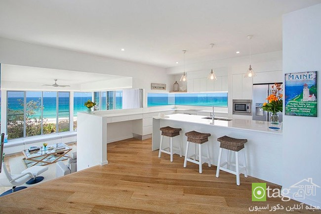 Kitchen that opens with ocean view 12 معرفی 18 دکوراسیون آشپزخانه با نمایی شگفت انگیز از دریا