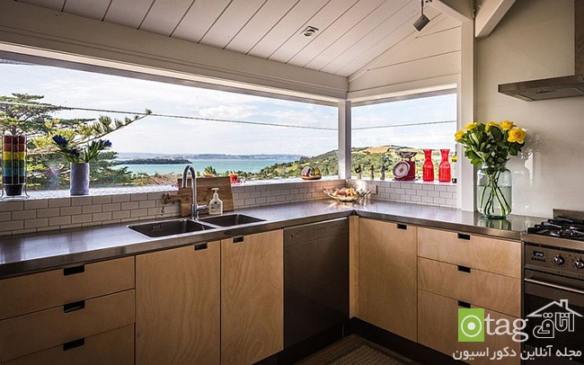 Kitchen that opens with ocean view 17 معرفی 18 دکوراسیون آشپزخانه با نمایی شگفت انگیز از دریا