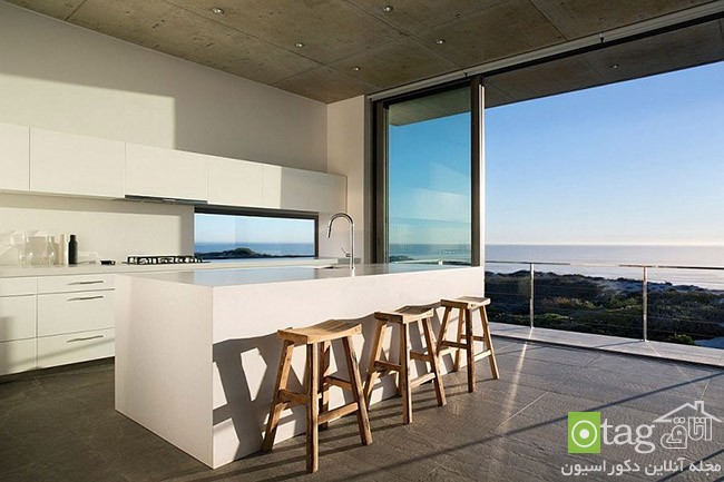 Kitchen that opens with ocean view 4 معرفی 18 دکوراسیون آشپزخانه با نمایی شگفت انگیز از دریا