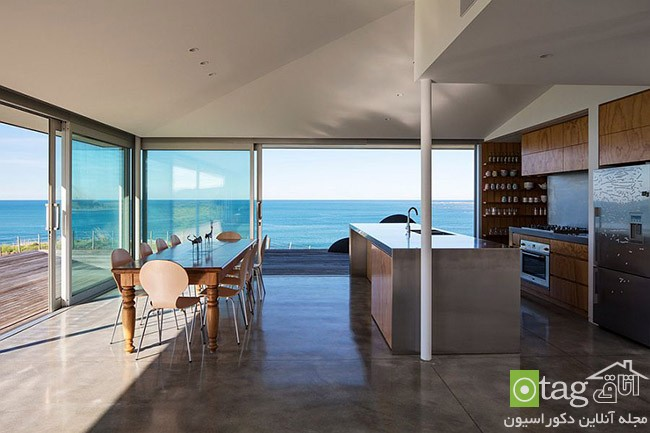 Kitchen that opens with ocean view 5 معرفی 18 دکوراسیون آشپزخانه با نمایی شگفت انگیز از دریا