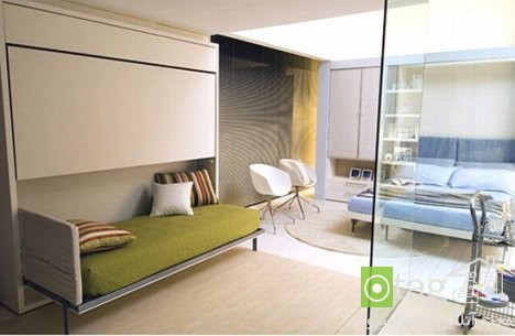 Small-Apartment-Bedroom-Design-with-Folding-Beds (13)