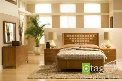 Comfortable Japanese Style in Wood Bedroom Furniture Sets Design Ideas