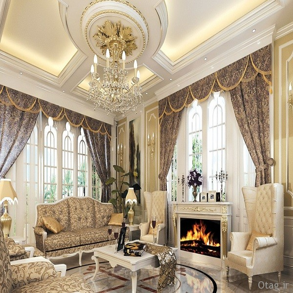 divine luxury pop false ceiling decoration for luxury living room ideas with classic furniture and gas fireplace also soft lighting انواع مدل شومینه مدرن سنگی به سبک ایتالیایی / عکس