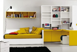 ochre-white-bed-room