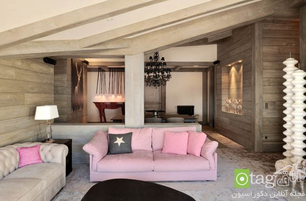 pink sofas and couch designs in living room 12 مدل های مخالف مبلمان صورتی رنگ در دکوراسیون اتاق نشیمن