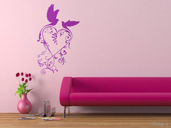 wall-sticker-purple-and-pink-birds