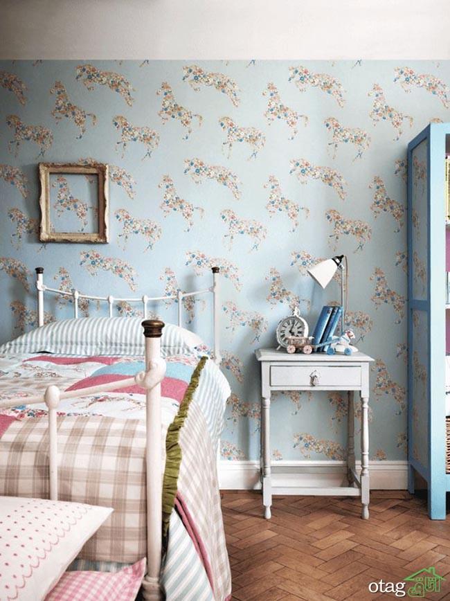 آلبوم کاغذ دیواری اتاق کودک دخترانه و پسرانه طرح دار جدید