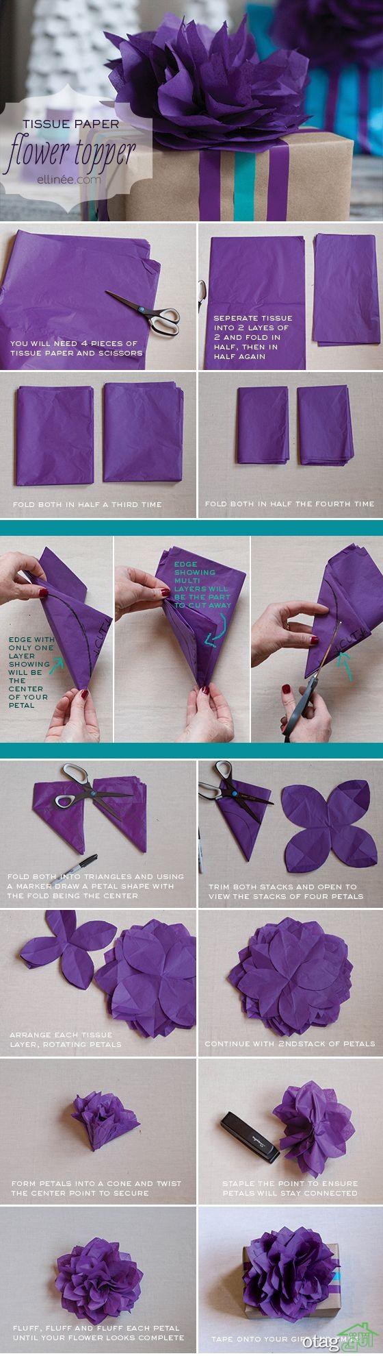 آموزش ساخت گل کاغذی (2)