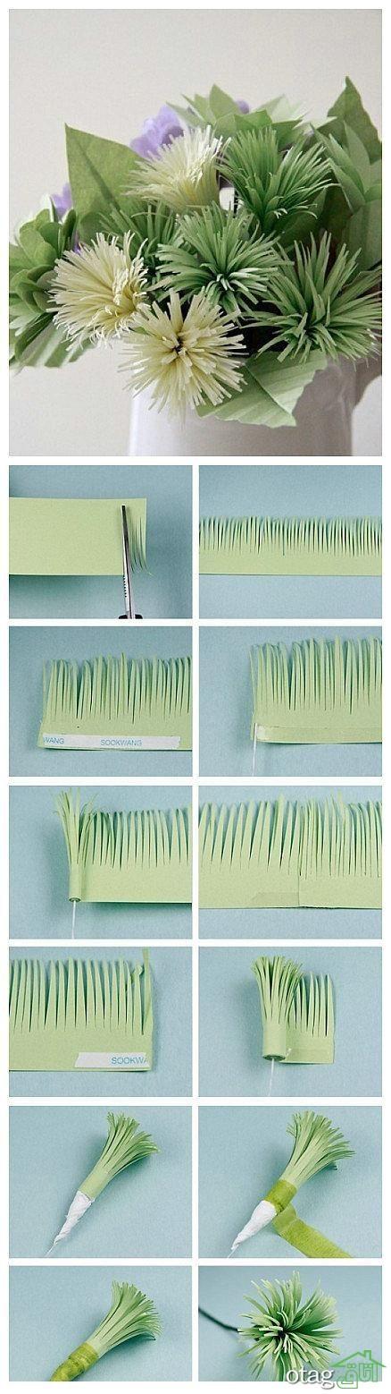آموزش ساخت گل کاغذی (5)