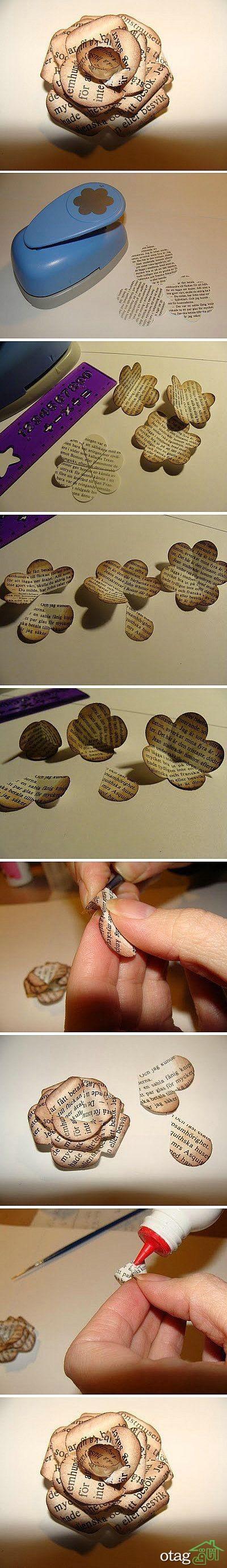 آموزش ساخت گل کاغذی (6)