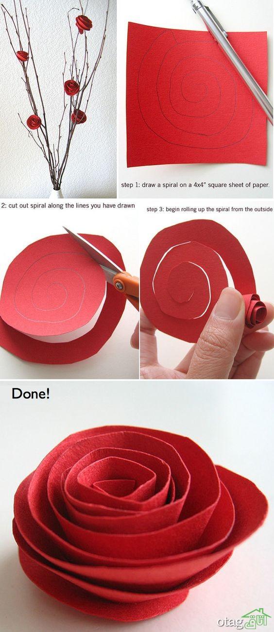 آموزش ساخت گل کاغذی (7)
