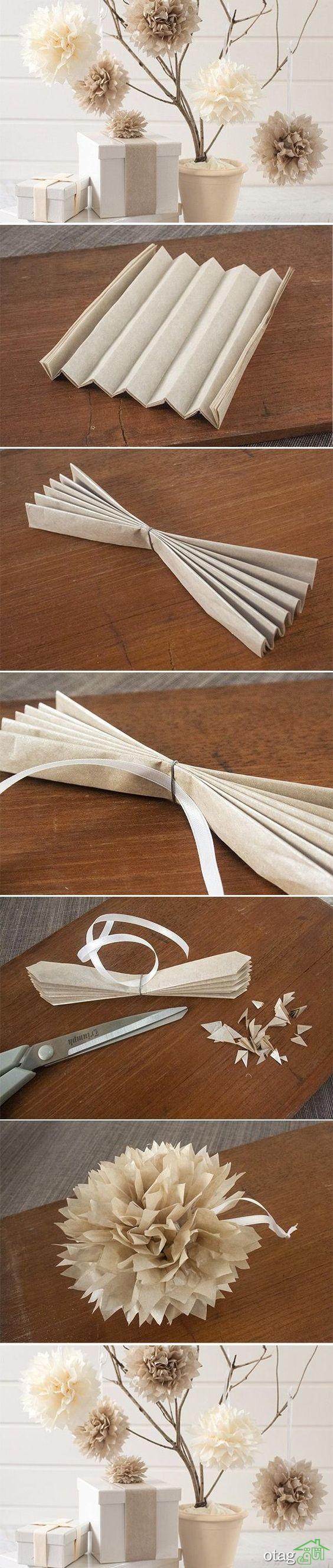 آموزش ساخت گل کاغذی (9)