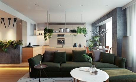22 مدل آپارتمان پلان باز و پیوسته با طراحی مدرن و ساده