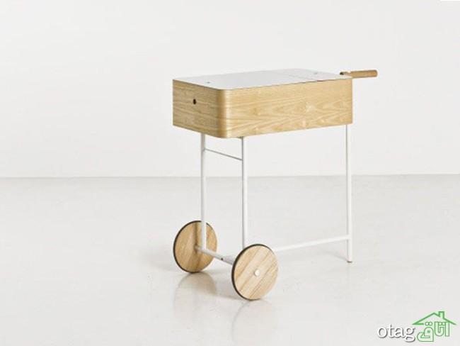 40 مدل میز بار چرخدار لوکس و مدرن [ خاص ] رستوران و منزل