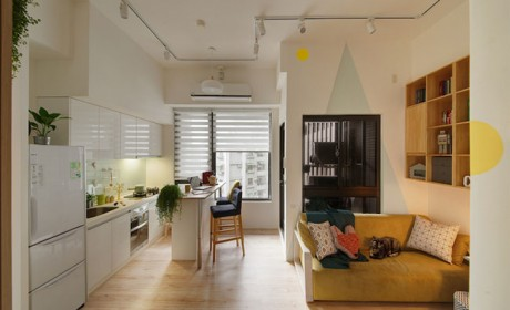بازسازی آپارتمان کوچک 48 متری به روشی بسیار خلاقانه و جالب